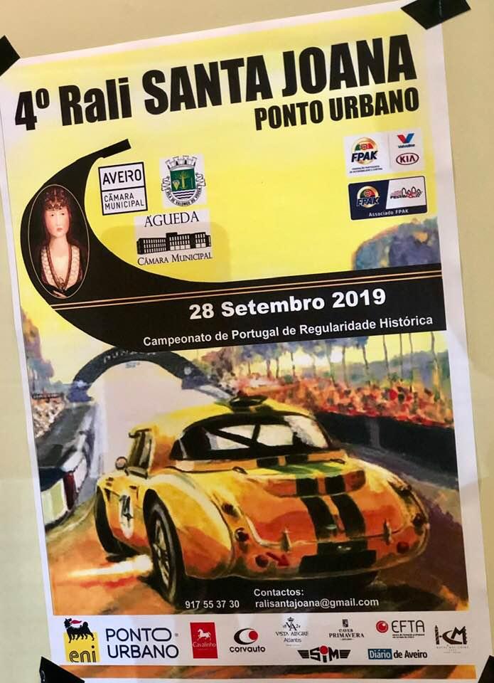 4º Rali Santa Joana a realizar dia 28 de Setembro de 2019