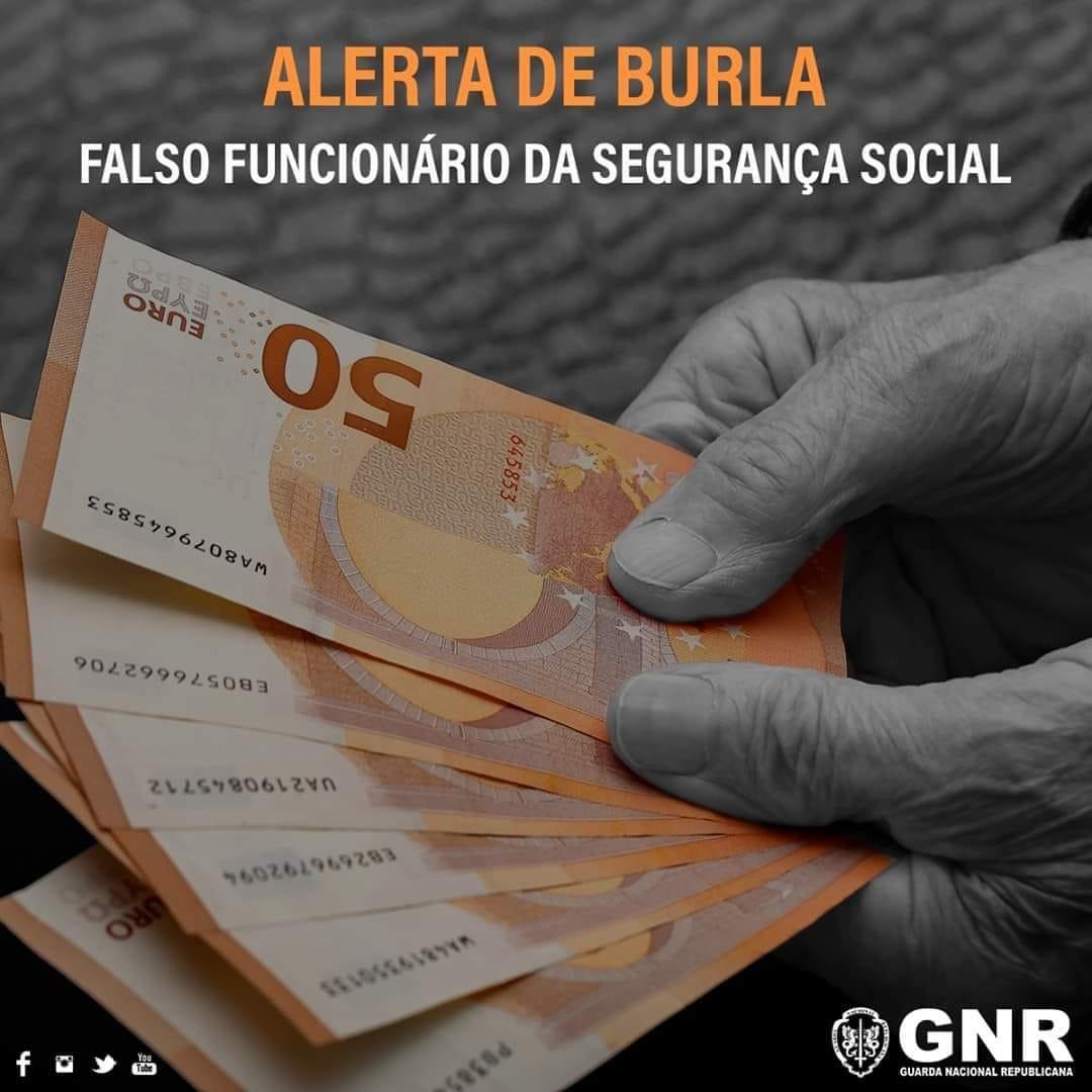 ALERTA DE BURLA   FALSOS FUNCIONÁRIOS DA SEGURANÇA SOCIAL