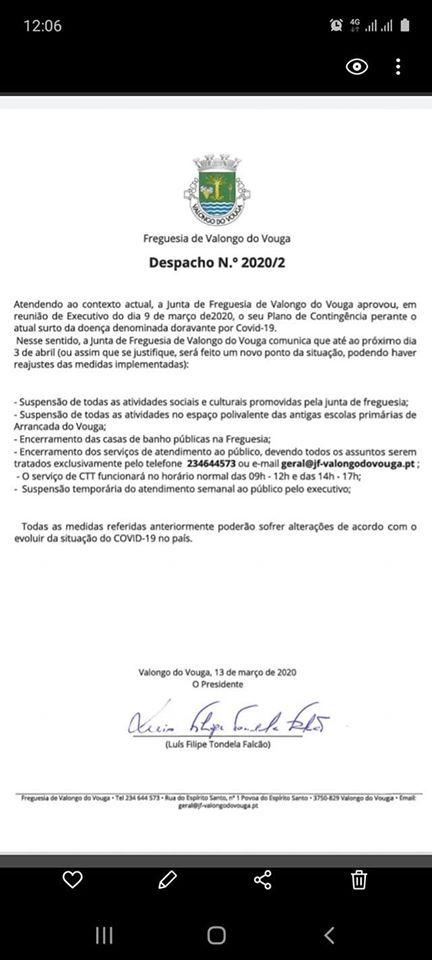 DESPACHO Nº2020/2