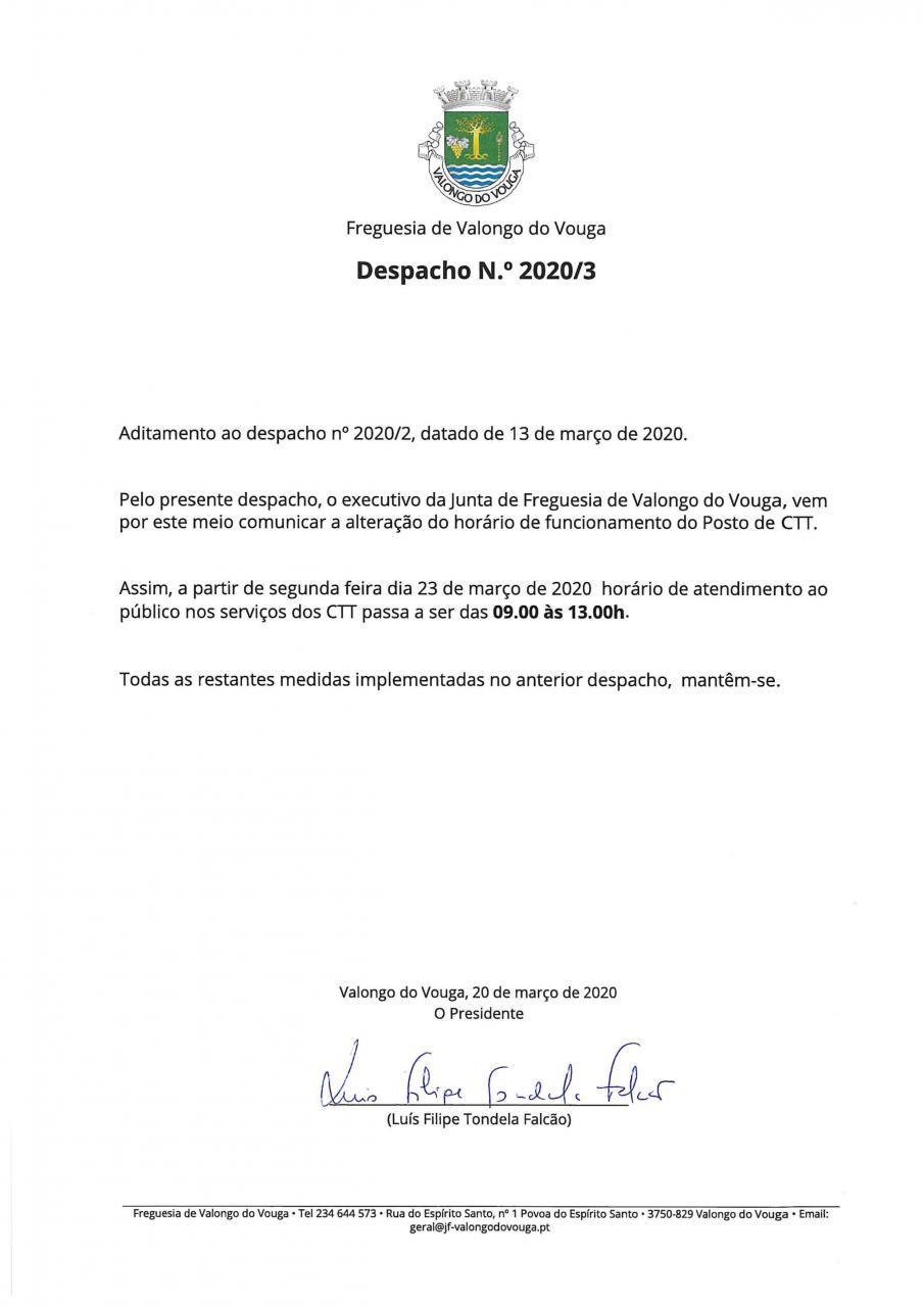 DESPACHO Nº2020/3